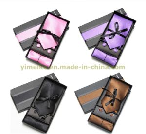 Wholesale Men Fashion Tie and Hanky and Cuff-Link Set (WH18) pictures & photos