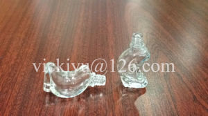 Crescent-Shaped Small Glass Bottles for Essential Balm, Essential Oil pictures & photos