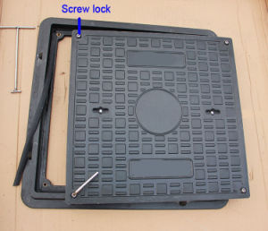 En124 Factory Cable FRP GRP Manhole Cover with Frame pictures & photos