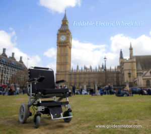 Golden Motor E-Throne Folding Power Wheelchair Et-12f22 pictures & photos