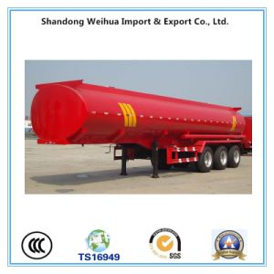 50 Cbm Chemical Liquid Transport Tanker Semi-Trailer with 3 Fuwa Axle pictures & photos