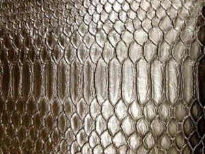 Embossed Fishskin Artificial PVC Leather