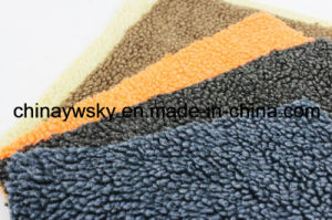 100 Polyester Micro Super Soft Faux Sherpa Fabric Berber Fleece for Winter Clothing Lining pictures & photos