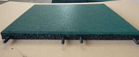 Green Color Interlocking/Link Rubber Flooring, Outdoor Rubber Tile pictures & photos