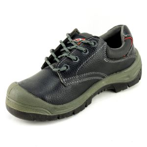Economic Split Leather PU Sole Anti-Hit Safety Work Footwear pictures & photos