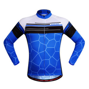 Custom Men Sublimated Long Sleeves Cycling Jersey pictures & photos