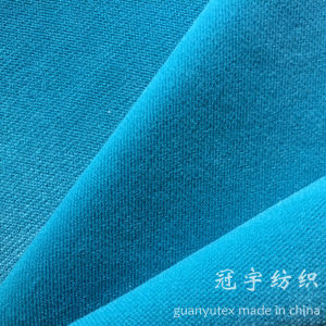 Super Soft Velour Fabric with Cation Treatment for Sofa pictures & photos