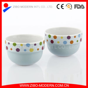 Wholesale Decorate Decal Ceramic Ice Cream Cup pictures & photos