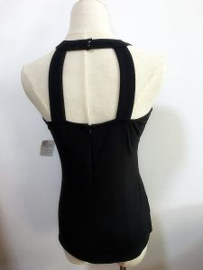 Lady Fashion Clothes Round Neck Knit T/R Span Tank Top for Women pictures & photos