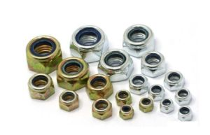 Hex Nylon Insert Nuts DIN985 with Zinc Plated Carbon Steel