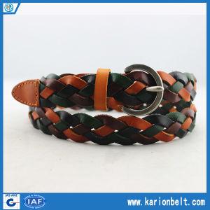 Women Wrap Braided Knit Cross Waistband Thin Skinny Belt (30-13094)