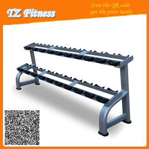 High Quality Gymnastic Equipment / Two Tier Dumbbell Rack Tz-6045 pictures & photos