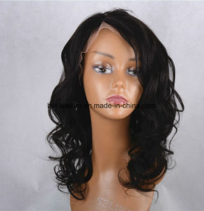 Human Hair Skin Top Fringe Full Hand Tied Lace Wig pictures & photos