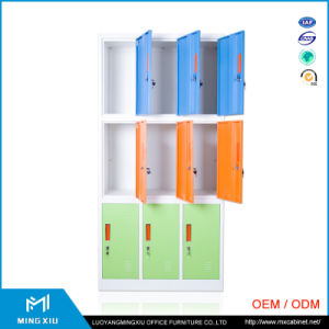 China Steel Furniture Supplier Mingxiu 9 Door Metal Clothes Storage Cabinet / Steel Lockers pictures & photos