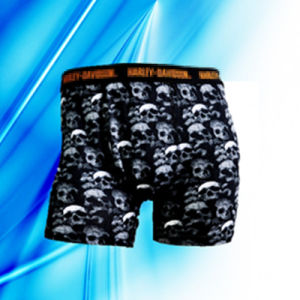 95% Cotton 5% Spandex Man′s Allover Print Skull Briefs pictures & photos