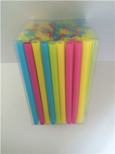 Super Jumbo Plastic Drinking Straw, PVC Box Package pictures & photos