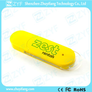 Hot Yellow Ce Approved Plastic USB Flash Drive (ZYF1229) pictures & photos