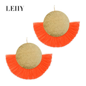 Fashion 6 Candy Colors Silk Thread Tassel Jewelry Drop Earrings pictures & photos