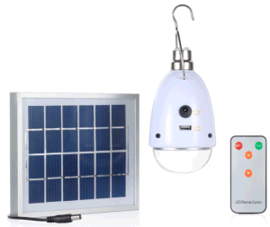 a 5 Lighting Class Solar Power Battery LED Light Bulb Lamp with Remote Control pictures & photos