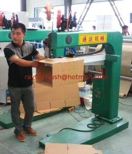 Semi-Auto Stitching Machine for Corrugated Carton Box Making pictures & photos