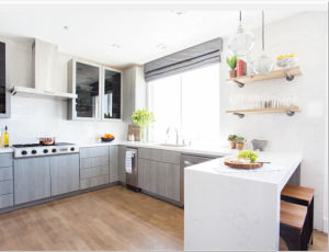2016 Welbom Modern Wooden Kitchen Cabinet with Visual Contrast Acrylic pictures & photos