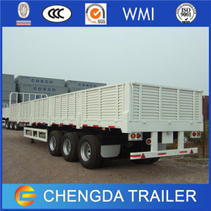 3 Axle 40 Ton Cargo Drop Side Trailer for Sale pictures & photos