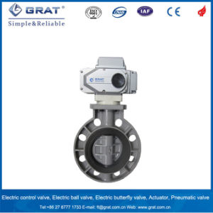 Light Weight PVC Electric Butterfly Valve pictures & photos