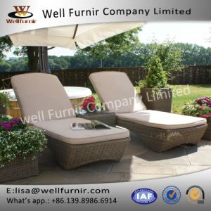 Well Furnir Lover Seat Beads Sun Lounges with Coffee Table pictures & photos