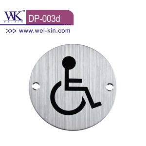 Ss Door Sign Plate for Handicapped (DP-003D)