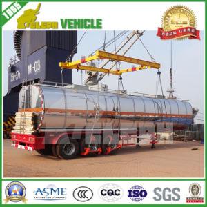 3 Axles Lifting Air Suspension Aluminum Fuel Tank Semi Trailer pictures & photos