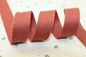 Red Herringbone Cotton Tape