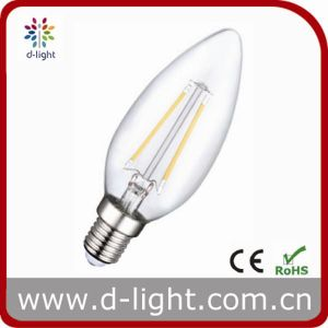 2W E14 Base Candle LED Filament Bulb pictures & photos