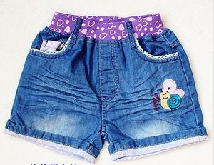 Kid′s Summer Colorful Short Jeans