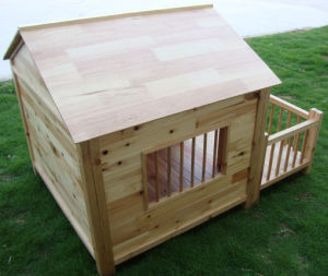 Big Solid Wood Made Outdoor Pet Dog House (pH-001) pictures & photos