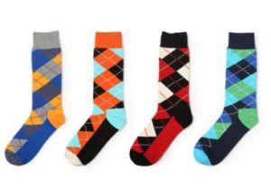 Custom Knee High Cotton Unisex Knee High Sock pictures & photos