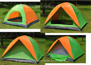 Practical Double-Skin Polyester Camping Tent for 2-4 Persons (JX-CT020-2) pictures & photos
