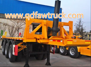 High Quality Tri-Axles 20FT Container Flatbed Trailer pictures & photos