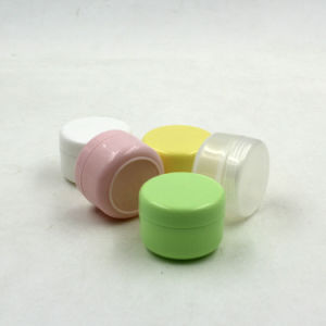 Different Color Plastic Cosmetic Cream Jar pictures & photos