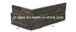 Natural Black Slate Veneer Corner Stone for Wall Decoration