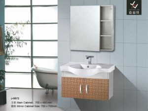 Wood Wooden Color Bathroom Vanity Set (J-8672)