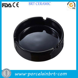 Round Black Ordinary Ceramic Cheap Ashtray pictures & photos