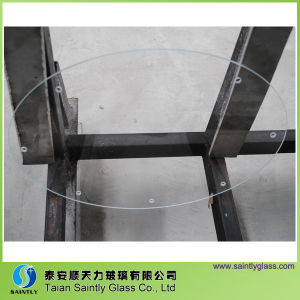 Oval Toughened Tempered Glass Panel for Lighting with Drilling Holes pictures & photos