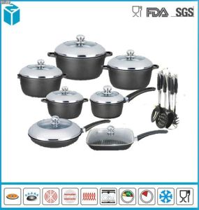 Non Stick Black Soft Handle Cookware Set