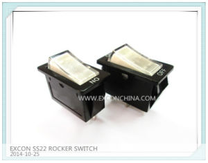 Electronic Power Switch Ss22 Series Rocker Switch for Home Appliance
