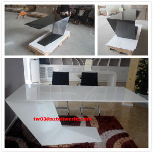 Tell World Artificial Marble Z Shape Office Desk pictures & photos
