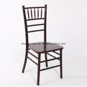 Red Color Solid Wooden Outdoor Chiavari Ballroom Events Chair pictures & photos