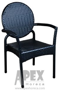 Outdoor Furniture (AS1023AR) Arm Chair Rattan Cafe Furniture pictures & photos