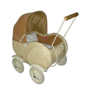2015 New and Popular Wooden Doll Cart, Hot Sale Comfortable Wooden Wheeled Doll Cart Toy, Safety Moving Doll Cart Toy Wj278232 pictures & photos