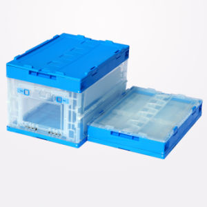 L530xw365xh335mm Folding Plastic Storage Box pictures & photos