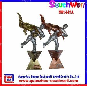 Polyresin Wrestling Trophy Figurines